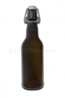 0,500 л Оливковая с бугельной пробкой