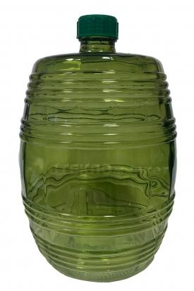Бутыль 10,0л Бочонок зеленый